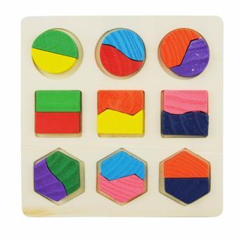 AA Toys Puzzle Kayu Geometri Model B - Mainan Anak Wooden Puzzle 3D