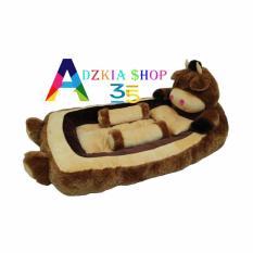 adzkia35 kasur bayi karakter sapi coklat
