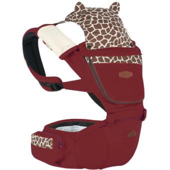 AIEBAO A6626 Multifunctional Baby Carrier Waist Belt Infant HipSeat(Wine Red) - intl