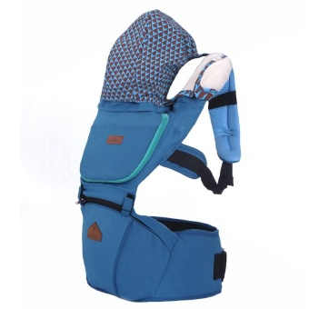 AIEBAO Baby Waist Stool Baby with Multi-functional Cotton Shoulders Seat - Blue - intl
