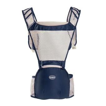 AIEBAO Multi-function Breathable Waist Stool with a Bag of Double Shoulder - Blue - intl