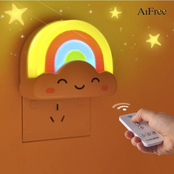 AiFree LED Rainbow Colorful Intelligent light control mini babyroom night light Decorative Lights Baby Bedside Lamp Children Toy -intl