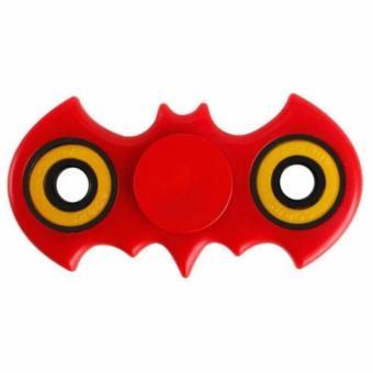 Gambar AIUEO Fidget Spinner Bat man Hand Toys Mainan EDC Ceramic Ball Focus Games Bartman Merah
