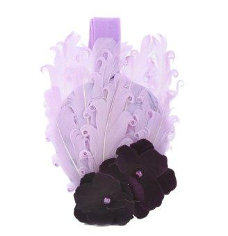 ... Topi Baret Source Anak bayi lucu gadis bulu merak bando bunga Renda