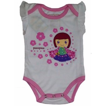 Andri Collection - Baju Bayi Organik Cotton Jumper Sakura (bersertifikasi SNI & GOTS) - White