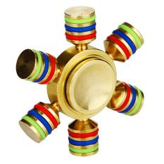 Angel Fidget Hand Spinner Premium Hexagonal Gold Color Mainan Anti Stress