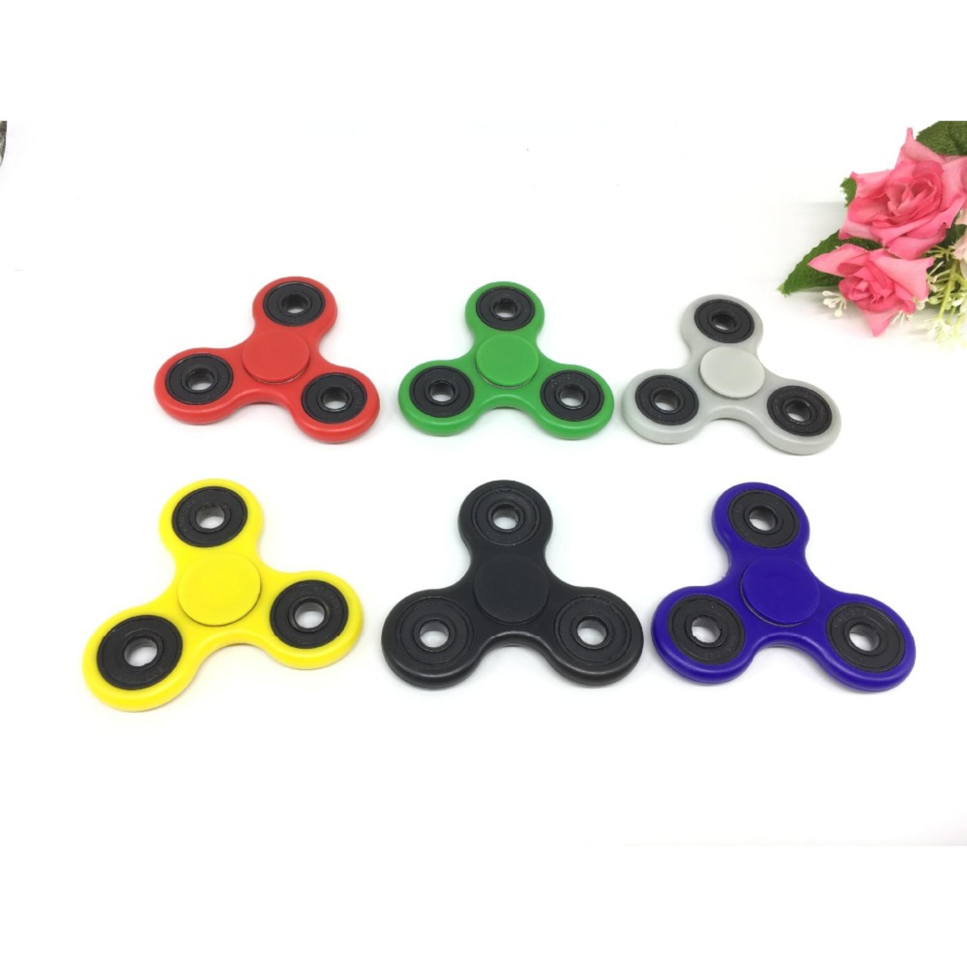 ANGEL - Papua Fidget Spinner Hand Toys Mainan Tri-Spinner EDC Focus Games - Putih