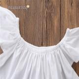 ... Bayi Perempuan Harian Pakaian Set Musim Panas Anak Pakaian Putih Atasan Rusak Lubang Celana Ikat Kepala ...