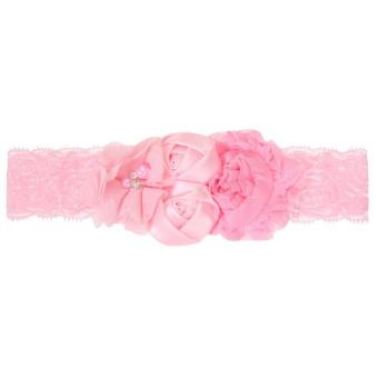 LRC Bando Fashion Rhombus Pattern Decorated Hairband. Source · Baby Girls Pearl Flowers Headband (Pink) - intl