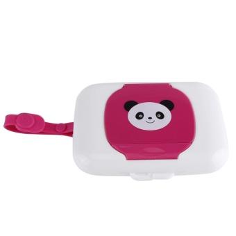 Baby Infant Outdoor Travel Stroller Wet Wipes Box Tissue CaseDispenser White&Rose - intl