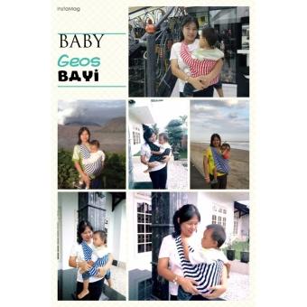 BABY JOSE Premium Q Gendongan Bayi Kaos 'M' COFFE Choco / GEOS / Gendongan Bayi / Selendang Bayi - 3