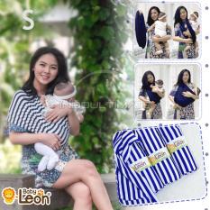 BABY LEON Gendongan Bayi Kaos/Geos/selendang Bayi Praktis BY 44 GB SALUR Ukuran S - White Salur