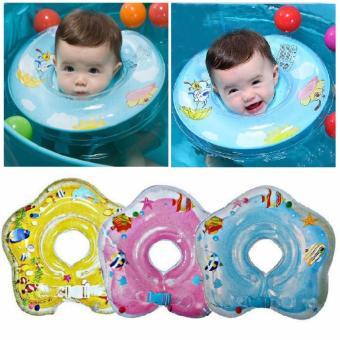Baby Neck Ring Float Rattle Pelampung Leher Bayi Kerincing - Warna Random (Ban leher ban