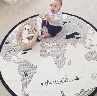 Baby Play Mat Adventure World Map Game Pad Crawling Mat Children'sRoom Baby Game Pad Rug Mattresses - intl