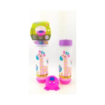 Baby Safe Feeding Bottle Karakter Hewan BPA Free 250ml Pink - BotolSusu Bayi 250ml