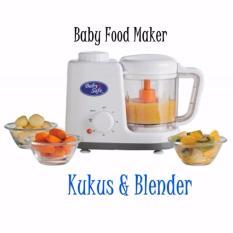 Baby safe Msin Makanan Bayi Kukus dan Blender - Putih
