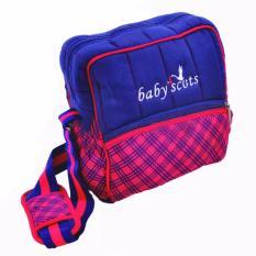 Baby Scots Berry Bag Merah Biru Dongker - Tas Perlengkapan Bayi