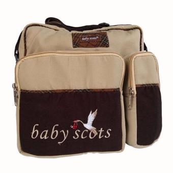 Baby Scots Embroidery Medium Bag ISMB015 Brown - Tas Perlengkapan Bayi Coklat