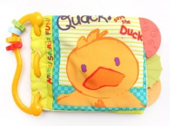 Baby Talk - Softbook Teether - Quack Duck