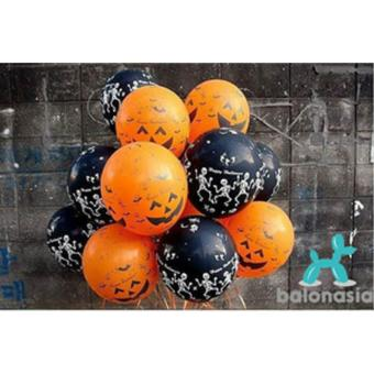 Balonasia 30 pcs Balon Latex Halloween Dekorasi Pesta Mainan Anakdan Dewasa