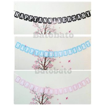 Banner Happy Anniversary Motif Polos