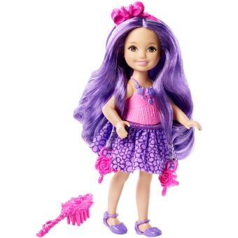 HEMAT Barbie(R) Endless Hair Kingdom(TM) Chelsea – Purple Hair MURAH