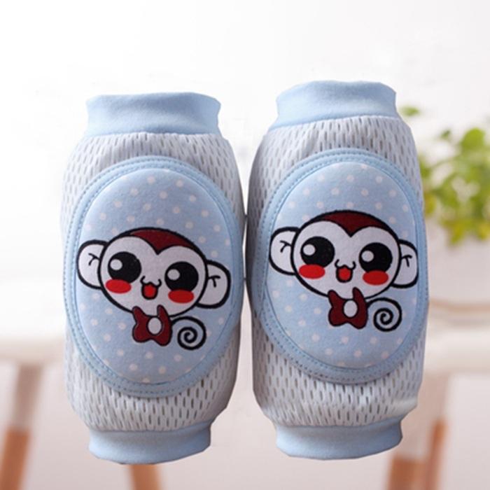 Baru berkualitas tinggi keselamatan kartun kapas bantalan lutut bayi merayap pelindung lutut anak pendek pelindung lutut ...