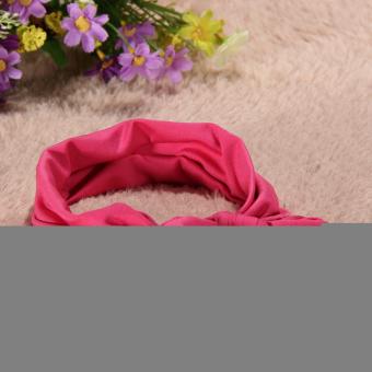 Bayi Balita Anak Gadis Cantik Serban Simpul Bando Kelinci Karet Rambut Naik Merah - 3