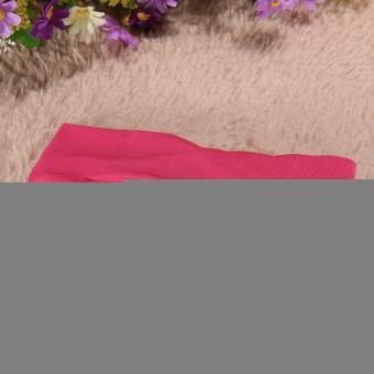 Bayi Balita Anak Gadis Cantik Serban Simpul Bando Kelinci Karet Rambut Naik Merah - 5