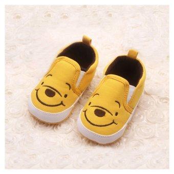 Bayi laki-laki sepatu anak perempuan pertama Walkers lucu kuning beruang 0-12 bulan kuning S - 5