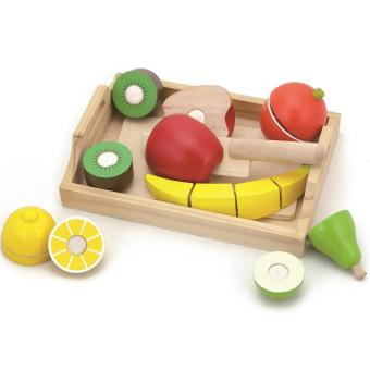 BB Mart Wooden Toys Fruit Bread Plate -Mainan Edukasi