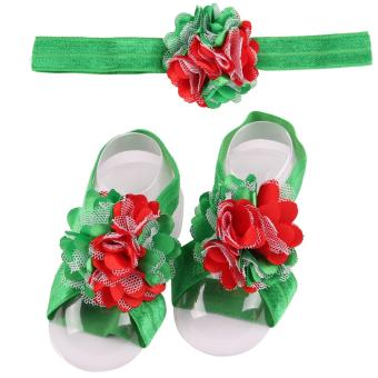 Bear Fashion Baby Infant headband Footband Foodwear Flower LaceHair Band Hair Accessories Newborn Baby Girls accessories - intl