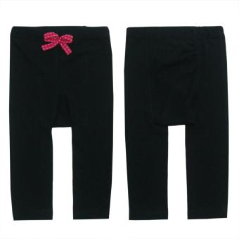 Bearhug 2-Piece Legging for Cute Baby Girl with Ribbon - Putih& Hitam - 3