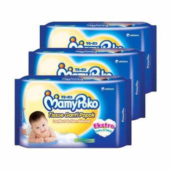 Best Deals - Mamypoko Baby Wipes Premium Non Perfumed Tissue Basah(3 Pcs/20 Sheet)