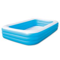 Bestway-3-rings-family-pool, Kolam Kotak JUMBO polos 305x183x56cm