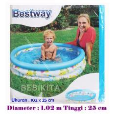 Bestway 51008 Kolam Renang Anak Fish uk 102 x 25 cm