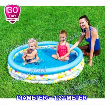 Bestway Intex Rainbow Coral Kids Swimming Pool Pelampung Kolam Renang Anak Pelangi Medium Diameter 1,