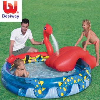 Harga Bestway Kolam Bermain Anak 53033 Viking Play Pool Perosotan Air + Pompa Angin 12\
