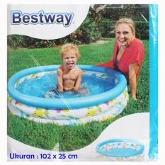Bestway Kolam Renang Anak FISH uk 102 x 25 cm