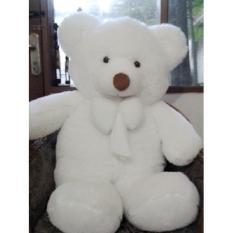 Boneka Beruang Teddy Bear Putih Super Jumbo 120 CM