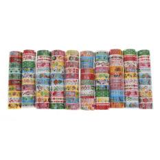 Rp 32.000. Bulk10pcs/1,5 Cm X 3 Meter Kertas Stiker Perekat Dekoratif Washi Tape ...