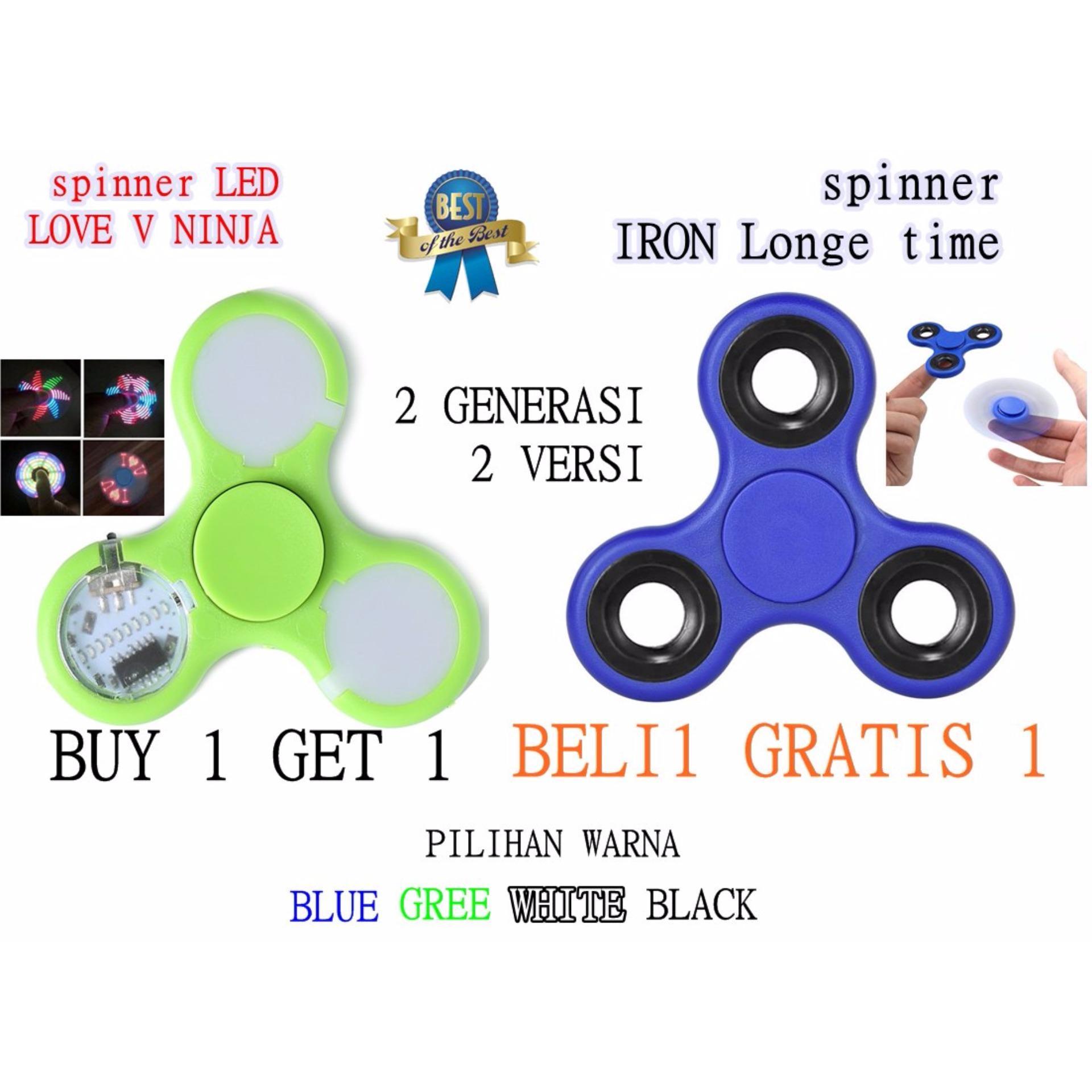 Happy Fidget Spinner Hand Spinner Premium Tri Spinner Zamrud Ruby Source · BUY 1 GET 1 spiner ninja led love dan spiner iron long time