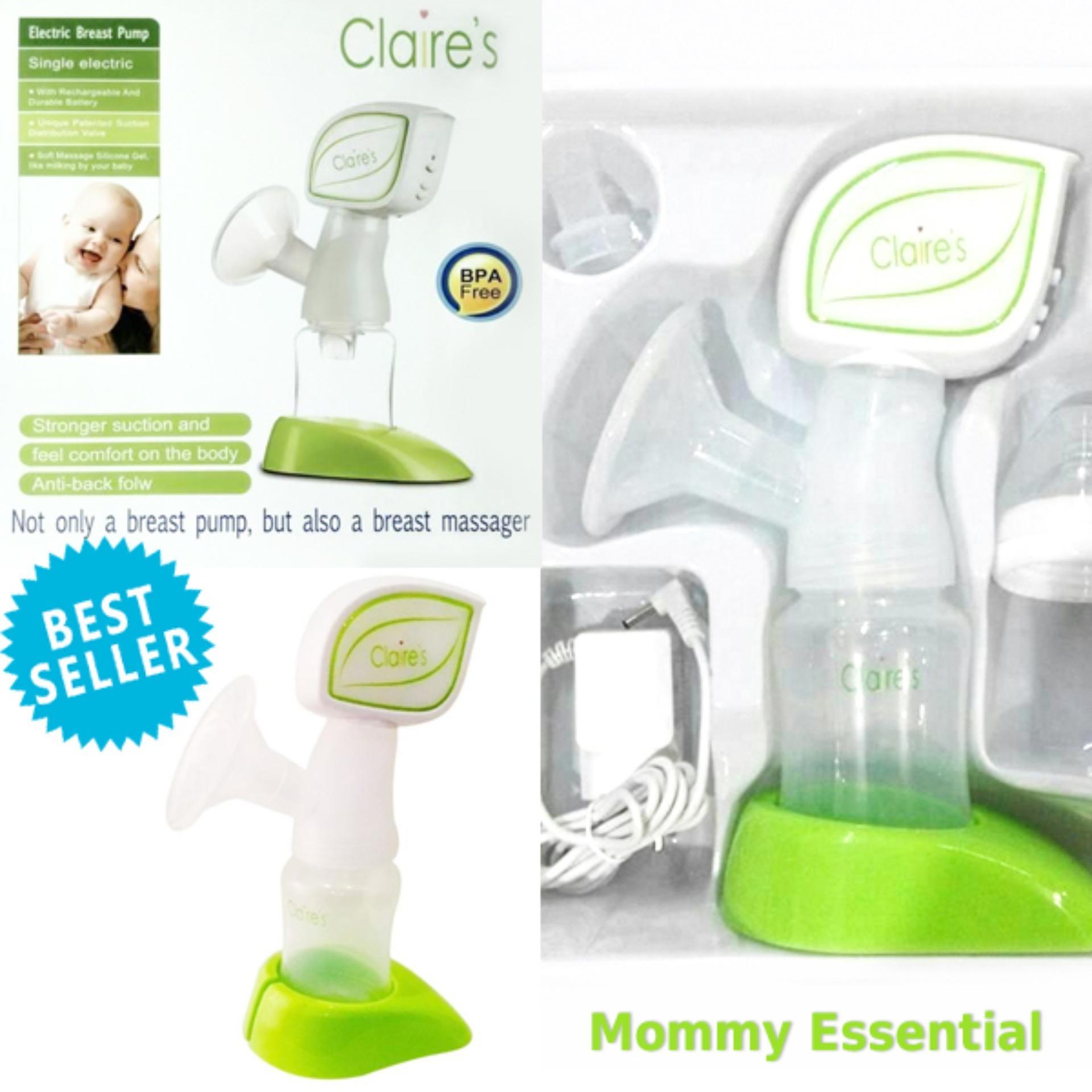 Tidak memerlukan tenaga Claire's Electric Breast Pump and Massager Claire's Pompa Menyusui ASI Elektrik