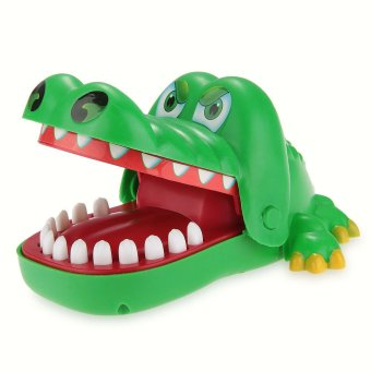 Crocodile Hand Finger Biting Pull Teeth Game Funny Family Toy Gift(Intl) - 2