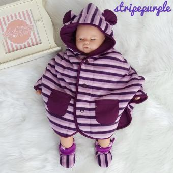 Cuddle Me Jubah Baby Cape Stripe Purple