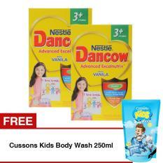 DANCOW ADVANCED EXCELNUTRI 3+ Vanila Box 800g - Bundle Isi 2 Box - Free Cussons Kids Body Wash 250ml