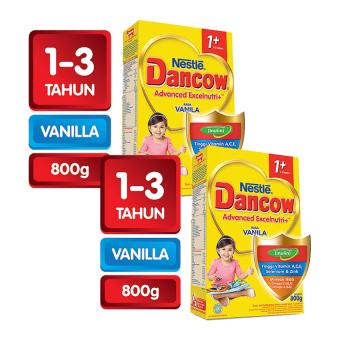 Dancow Excelnutri 1+ Usia 1-3 Tahun - Vanila - 800gr - Bundle isi 2 Box