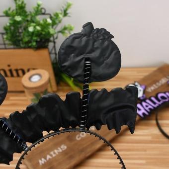 Diotem Halloween Hair hoop pumpkin Witch hair Hoop - C - intl