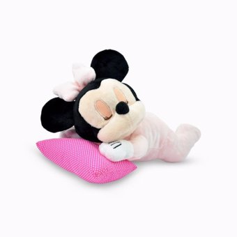 Disney Original Boneka Bayi Mini Tikus ( Baby Minnie Mouse Lying Plush Doll ) 12 inch - Pink