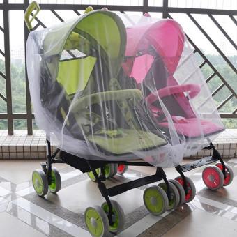Double Stroller Kereta Bayi Kelambu Bayi Kereta Dorong Penutup Serangga - Internasional